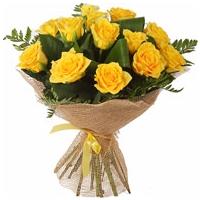 Kimp kollastest roosidest 40cm-50cm 17tk.