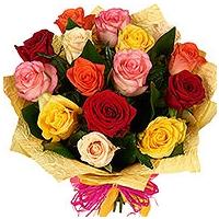 Kimp värvilistest roosidest 40-50cm,15tk.+kaunistus