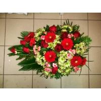 Leinakimp 65-70cm, punaste lilledega
