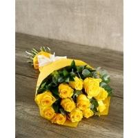 Kollase roosi kimp 15tk., 40-50cm