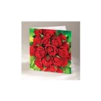 Õnnitluskaart kahepoolne punaste roosidega