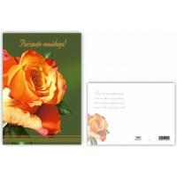 Õnnitluskaart 15x10,5cm anemoonidega