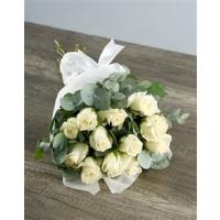 Kimp valgetest roosidest 15tk., 40-50cm