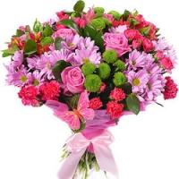 Kimp rooside ja krüsanteemidega