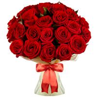 Kimp punastest roosidest 51tk., pikkus 60-70cm +kaunistus