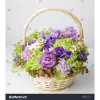 Lillekorv ümar, kõrgus 35cm